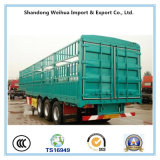 Reboque do caminhão da caixa azul de 3 eixos da carga do reboque Semi