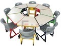 Gt-54-Wooden e tavola rotonda e presidenze dei capretti del blocco per grafici del metallo grandi
