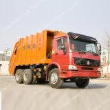 Sinotruk HOWO 6*4 16cbmの圧縮機械のごみ収集車の高品質