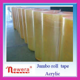Yellowish BOPP Adhesive Sealing Tape Jumbo Roll