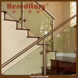 Escadaria de vidro dos trilhos do aço inoxidável para a decoração interna (SJ-803)