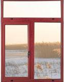 Ventana de aluminio esmaltada doble de la rotura del marco de la ventana de la ventana de aluminio termal del oscilación