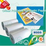 Rph-80 pp. synthetisches Papier für Versatz-rotierende bedruckbare UVplakate