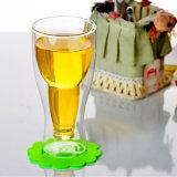 Doble al por mayor hecha a mano de la pared de cristal Copa Cerveza (CHM8607)