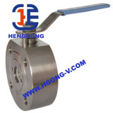 Vávula de bola neumática de la oblea del acero inoxidable 304 de DIN/API