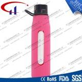 bouteille d'eau élevée en verre de Borosilicate 570ml pour les sports (CHB8020)