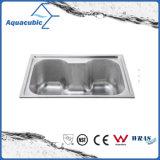 Boven de TegenGootsteen van de Keuken van Moduled van het Roestvrij staal (acs-6043)