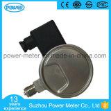 100mm todo o calibre de pressão elétrico do vácuo do contato do aço inoxidável