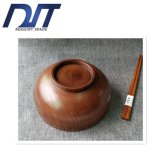 Tazón de fuente de ensalada de madera ambiental natural de Reative de diversa talla