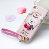 ダイヤモンドのシリコーンのローズのiPhone 7のためのカスタム電話箱