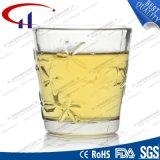 150ml heet verkoop de Kop van het Water van het Glas met het Ontwerp van de Bloem (CHM8024)