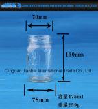 De in reliëf gemaakte Jampot van de Fles van het Glas van het Patroon Duidelijke