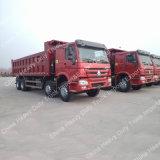 Caminhão de descarregador da condução à direita da caixa da carga de Sinotruk HOWO 15-25m3