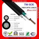 Câble fibre optique aérien autosuffisant avec le schéma 8 structure Gyxtc8s