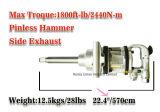 Llave inglesa de impacto del aire del mecanismo impulsor cuadrado de 1 pulgada UI-1204