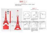Новый светильник таблицы Эйфелевы башни СИД способа