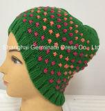 Chapéu de confeção de malhas do reforço do chapéu do Beanie do inverno da forma (Hjb051)