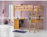 Bâti en bois simple élevé blanc en bois de bâti du dormeur 3FT avec la mémoire