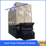 Caldeira do petróleo do calor do combustível contínuo da grelha da corrente de madeira de carvão da eficiência elevada