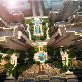Diseño de la urbanización 3D con paisaje recreacional del paisaje de las áreas
