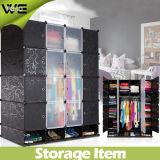 Armário favorável ao meio ambiente plástico elegante do Wardrobe do armazenamento material dos PP