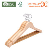 Hot Selling Supermarket Garment Usage Wooden Hanger para atacado (MC010)