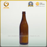 Chuangyouの光沢がある黒500mlのガラスビール瓶(122)