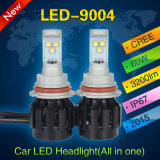 Indicatori luminosi dell'automobile del kit 9004 60W 46400lm di conversione del faro del CREE LED