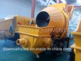 Venta caliente remolcables Diesel mezclador de concreto con bomba surtidor de China