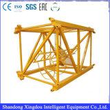 Grúa de los materiales de construcción de grúa de Qtz 125 de la grúa de arriba de la grúa de horca para Slae