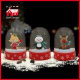 عيد ميلاد المسيح داخليّة زخرفة عيد ميلاد المسيح زجاجيّة ثلج كرة أرضيّة رجل ثلج [لد] ضوء