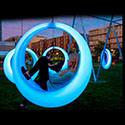 Trapeze van de Schommeling van het moderne de Verlichtende LEIDENE OpenluchtPark van het Terras met LEDs