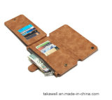 Nouveau Design Mobile Leather Cover Cas pour l'expert en logiciel Phone Wallet Leather Cas de l'iPhone 5s avec le slot pour carte