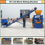 Beste verkaufenFlugasche-Ziegelstein-Maschine der niedrigen Kosten-Qt4-24 für Haus