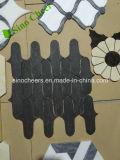 Mosaico di marmo nero a buon mercato Polished della fabbrica della Cina