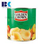 A série amarela de Apple de cereja dos pêssegos de fruta enlatada