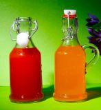 Empacotamento vazio do vidro de frasco do suco do punho de vidro bebendo do frasco