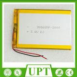 Batería certificada Un38.3 2000mAh 3.7V del polímero del litio IEC62133/batería de Lipo/batería de litio