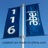 Calle poste del metal que hace publicidad del fijador de la muestra (BT04)