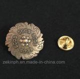O Lapel antigo feito sob encomenda do chapeamento 3D fixa o emblema da medalha