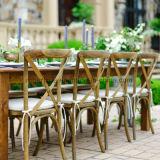 Kundenspezifischer Miethochzeits-Kreuz-Rückseiten-Stuhl