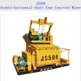 Concrete Mixer van het Type van Js500 de dubbel-horizontaal-Schacht Gedwongen