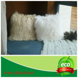 Cassa tibetana del cuscino della pelle di pecora sulla base