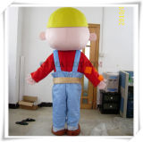 Bob o traje do personagem de banda desenhada da mascote do construtor