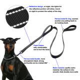 Le maniglie del guinzaglio 2 del cane anneriscono il doppio guinzaglio della maniglia riempito nylon
