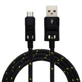 USB--De Nylon Geweven Kabel van uitstekende kwaliteit van Cellphone USB voor Samsung