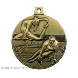 Marathon personalizzato Running Bike Metal Medal con Printed Ribbon