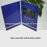 Video opuscolo della scheda dell'affissione a cristalli liquidi del Hardcover con i tasti multipli