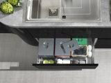 Schwarzer moderner Entwurf passen Lack-Küche-Schrank an