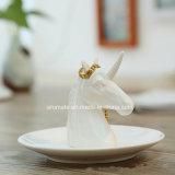Украшение белого керамического животного форменный домашнее (CC-02)
